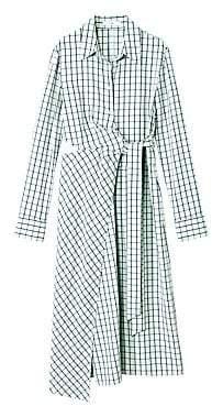 Tibi Women's Elliot Checkered Cut-Out Midi Dress