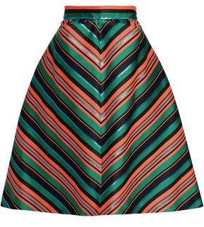 DELPOZO Flared Jacquard Skirt