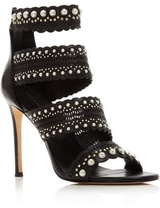 Pour La Victoire Women's Ellura Embellished Leather High-Heel Sandals