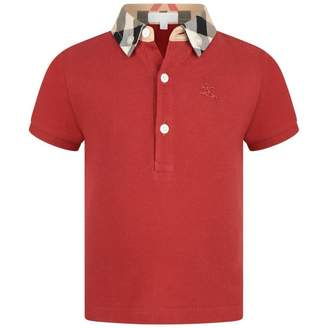 Burberry BurberryBaby Boys Red Mini William Polo Top