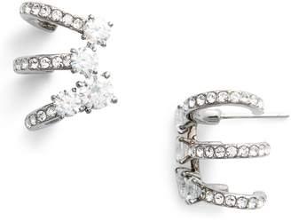 Nadri Multi Hoop Cubic Zirconia Earrings