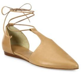 Vince Noella Arabian Leather Lace-Up Flats $325 thestylecure.com