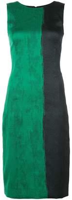 Oscar de la Renta contrast print sheath dress