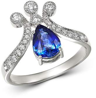 Bloomingdale's Sapphire & Diamond Crown Ring in 14K White Gold - 100% Exclusive
