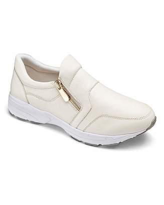 3751b4bf720 Heavenly Soles Zip Trainer Shoes EEE Fit