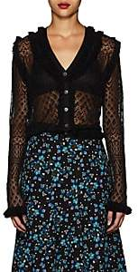 Altuzarra Women's Kozmic Pointelle Lace Cardigan-Black
