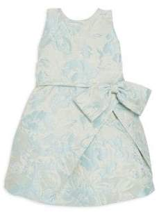Helena and Harry Toddler's, Little Girl's& Girl's Blue Jacquard Dress