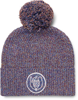 Loewe Eye Nature Melange Cotton-Blend Beanie - Men - Multi