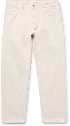 YMC Cropped Cotton And Linen-Blend Jeans