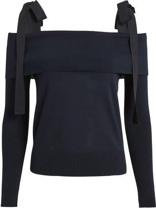 ADEAM Tie Shoulder Sweater