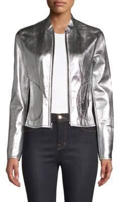 Chaplin Reversible Leather Moto Jacket