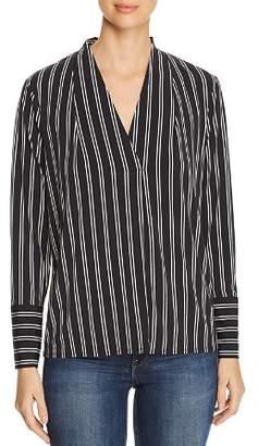 Kenneth Cole Striped V-Neck Top