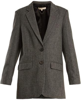 VANESSA BRUNO Garisa notch-lapel herringbone wool blazer