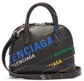 Balenciaga Ville Xxs Printed Leather Bag - Womens - Black Multi