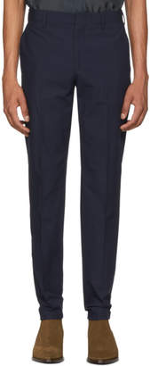 Paul Smith Navy Pleated Slim Trousers