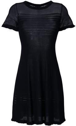 Emporio Armani mesh-panel mini dress