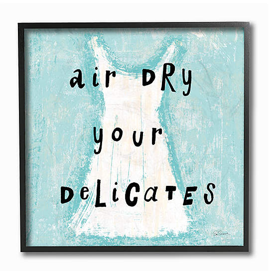 'Air Dry Your Delicates' Dress Wall Art