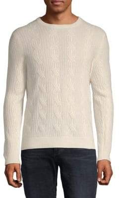 Cable Crewneck Cashmere Sweater