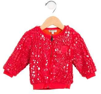 Kenzo Girls' Fleece Zip-Up Jacket