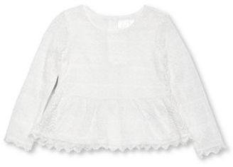Kardashian Kids Girls 2-6x Lace Peplum Top $30.99 thestylecure.com
