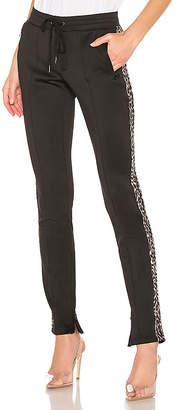 Pam & Gela Leopard Stripe Cigarette Pant