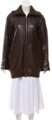 Marc Jacobs Leather Short Coat