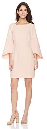 Suite Alice Women's Flare Sleeve Boat Neck Mini Length Dress