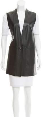 Helmut Lang Leather Longline Vest