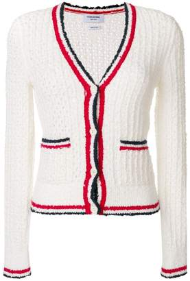 Thom Browne Wool Blend V-neck Cardigan