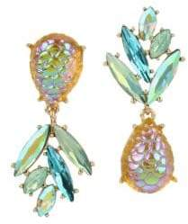 Betsey Johnson Paradise Lost Crystal Pineapple Mismatched Earrings