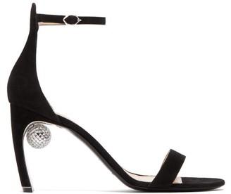 Nicholas Kirkwood Maeva Disco Ball Heeled Suede Sandals - Womens - Black