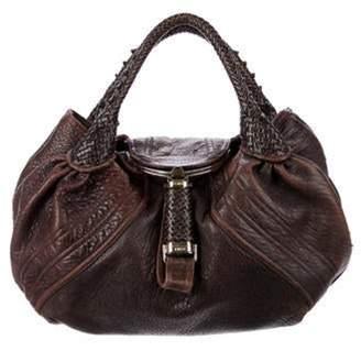 Fendi Leather Spy Hobo Bag silver Leather Spy Hobo Bag