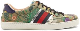 Gucci New Ace canvas low top trainers