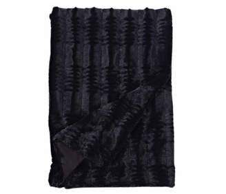 Cathay Home Inc. Embossed Faux Mink 50 X 60 Fur Throw Blanket