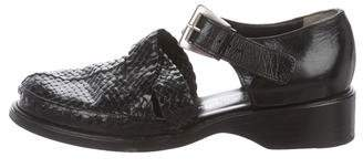 Stephane Kelian Leather Ankle Strap Pumps