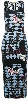 Versace Palm printed dress