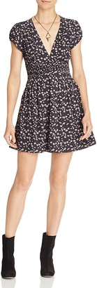 Free People Pretty Baby Printed Mini Dress $128 thestylecure.com