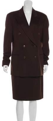Burberry Wool Knee-Length Skirt Suit