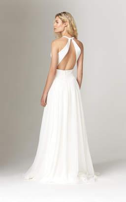 Savannah Miller Elizabeth Halter Neck Crepe Gown