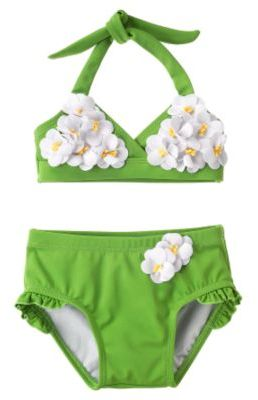 Daisy Appliqué Two-Piece Swimsuit