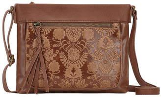 The Sak 108039Tobfloemb SanibelZip Top Crossbody Bag