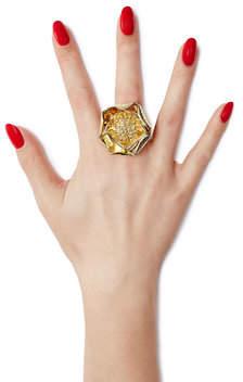 Aurelie BidermannAurélie Bidermann 18kt Yellow Gold-Plated Flower Ring