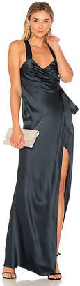 Michelle Mason Cross Back Wrap Dress
