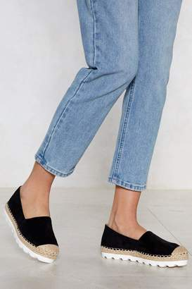 Nasty Gal Take a Walk Cleated Espadrille