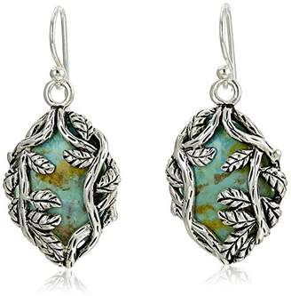 """Barse Twisting Vines"""" Sterling Silver and Genuine French Wire Drop Earrings"""