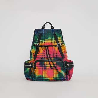 Burberry The Large Rucksack in Tie-dye Vintage Check