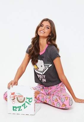 Missguided Pink Pusheen Perfect Night Legging Pyjama Set