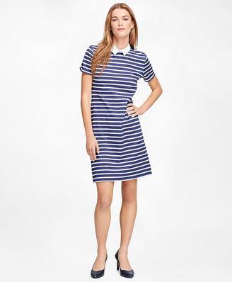 Cotton Knit Stripe Dress $88 thestylecure.com