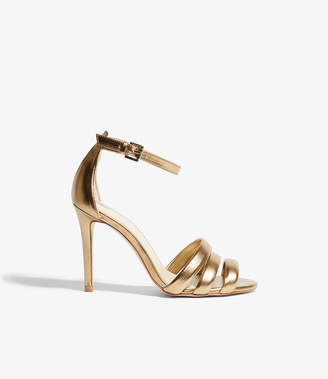 Karen Millen Gold Heeled Sandals