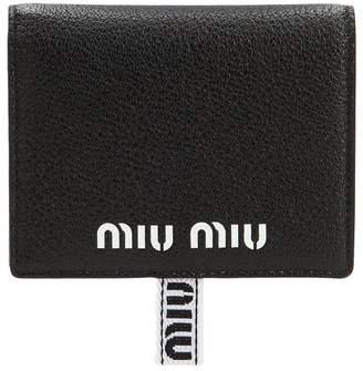 Miu Miu Color Block Leather Sport Snap Wallet